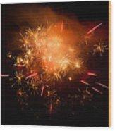 Firework Display At New Year's Eve Wood Print