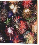 Fireworks Medley Wood Print