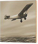 First Solo Transatlantic Flight, 1927 Wood Print
