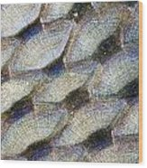 Fish Scales Background Wood Print
