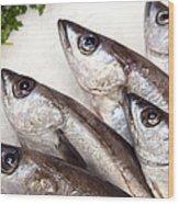 Fishes Wood Print by Jane Rix