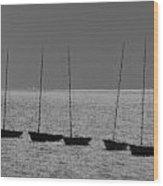 Fishing Boats Art Wood Print