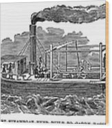 Fitchs Steamboat, C1790 Wood Print