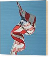 Flagged Wood Print