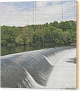 Flatrock Dam Wood Print