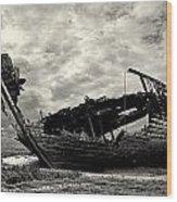 Fleetwood Marsh Wrecks Wood Print