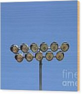 Floodlight  Wood Print
