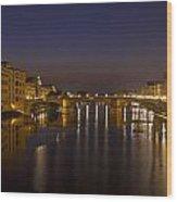 Florence - Ponte San Trinita Wood Print by Joana Kruse