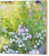 Flower Garden In Sunshine Wood Print