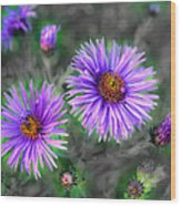 Flower Patterns Wood Print