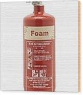 Foam Fire Extinguisher Wood Print
