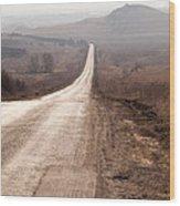Foggy Road In Dobrogea Wood Print