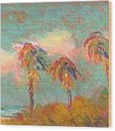 Folly Beach Wind Blown Wood Print