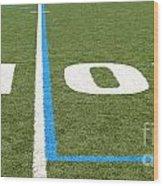 Football Field Ten Wood Print