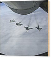 Formation Of Luftwaffe F-4f Phantom IIs Wood Print