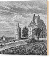 France: Wine Ch�teau, 1868 Wood Print