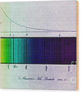 Fraunhofer Lines Wood Print by Science Source