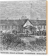 Freedmens School, 1868 Wood Print