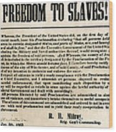 Freedom To Slaves Wood Print