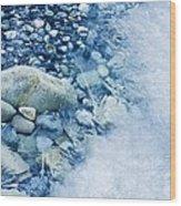 Freezing River Wood Print by Jeremy Walker