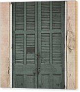 French Quarter Doors Wood Print