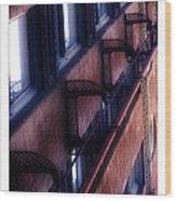 French Quarter Fire Escape Wood Print