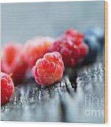 Fresh Berries Wood Print