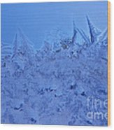 Frost On A Windowpane Wood Print