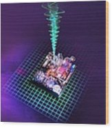 Future Computing, Conceptual Image Wood Print by Richard Kail
