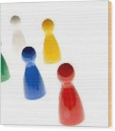 Game Pieces In Various Colours Wood Print