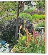 Garden Bench Wood Print