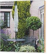 Garden Furniture Wood Print