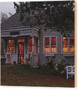 Gardner Roberts Memorial Library Wood Print