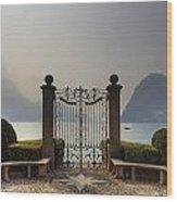Gateway To The Lake Of Lugano Wood Print