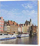 Gdansk Old Town In Poland Wood Print