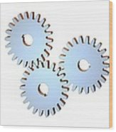 Gear Wheels, Artwork Wood Print by Laguna Design