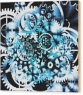 Gears Wheels Design  Wood Print by Setsiri Silapasuwanchai