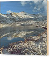 Geissler Mountain And Linkins Lake Wood Print