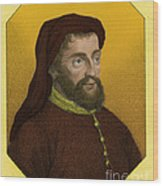 Geoffrey Chaucer, Father Of English Wood Print