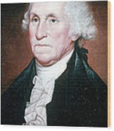 George Washington, 1st American Wood Print