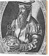 Gerardus Mercator, Flemish Cartographer Wood Print