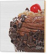 German Chocolate Cupcake 2 Wood Print