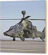 German Tiger Eurocopter At Fritzlar Wood Print