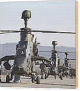 German Tiger Eurocopters At Fritzlar Wood Print