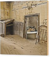 Ghost Town Boarding House Wood Print