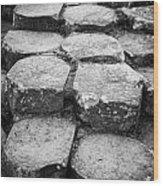 Giants Causeway Stones Northern Ireland Wood Print