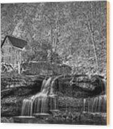 Glade Creek Grist Mill At Babcock Wood Print