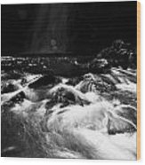 Gleno Or Glenoe Waterfall County Antrim Northern Ireland Wood Print by Joe Fox