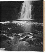 Gleno Or Glenoe Waterfall County Antrim Northern Ireland Uk Wood Print