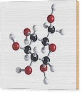 Glucose Sugar Molecule Wood Print